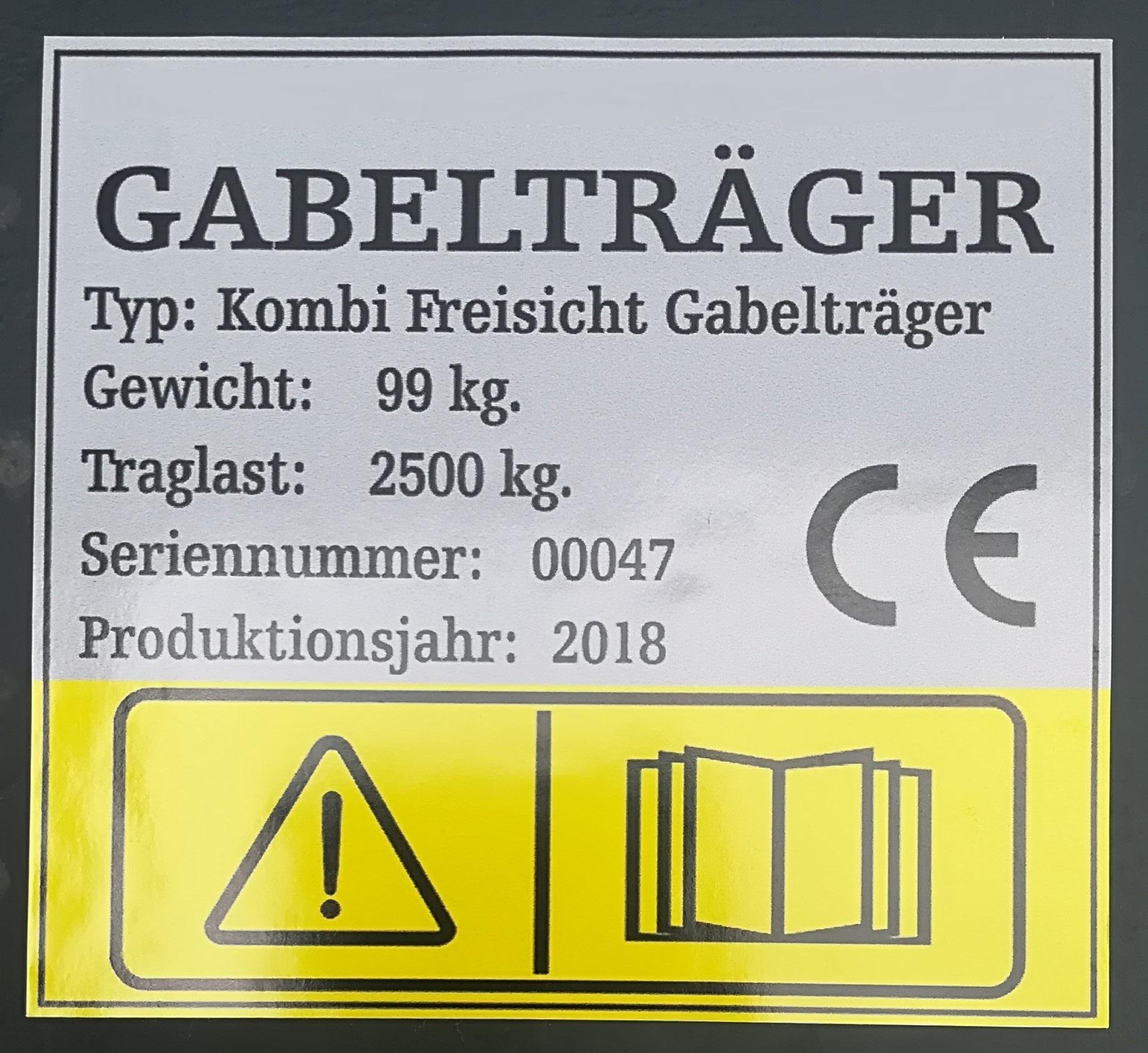 Palettengabel Gabelträger Dreipunktaufnahme Heckhydraulik 2 Gabelzinken