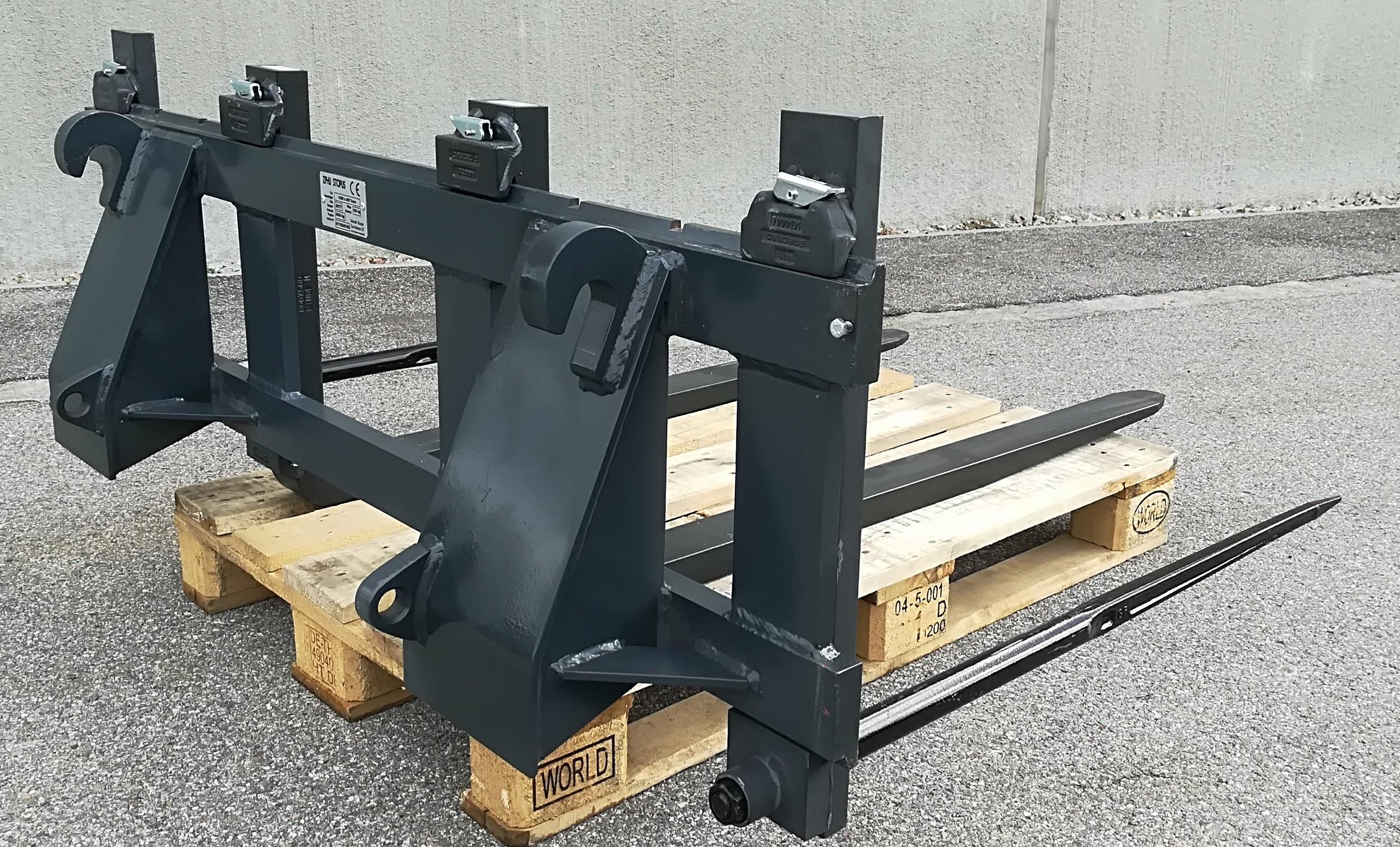 Palettengabel 1,2 m Gabelträger 2000 kg Euroaufnahme Gabelzinken Ballenspieß