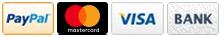 Zahlung uber PayPal, Kreditkarte oder Bankuberweisung moglich